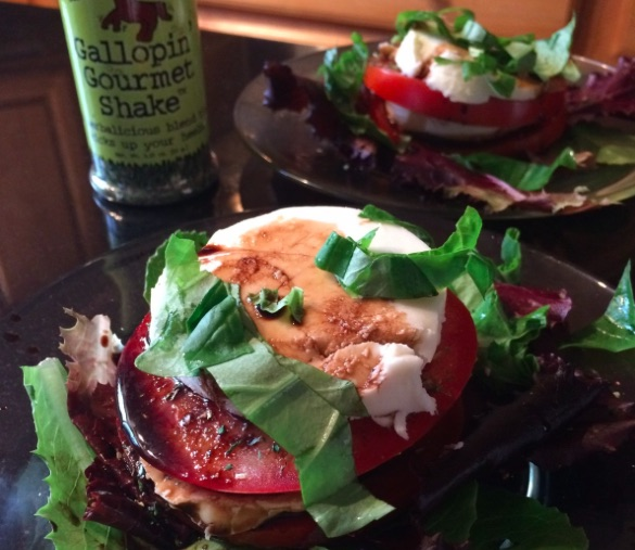 Caprese With a Kick – Serves two