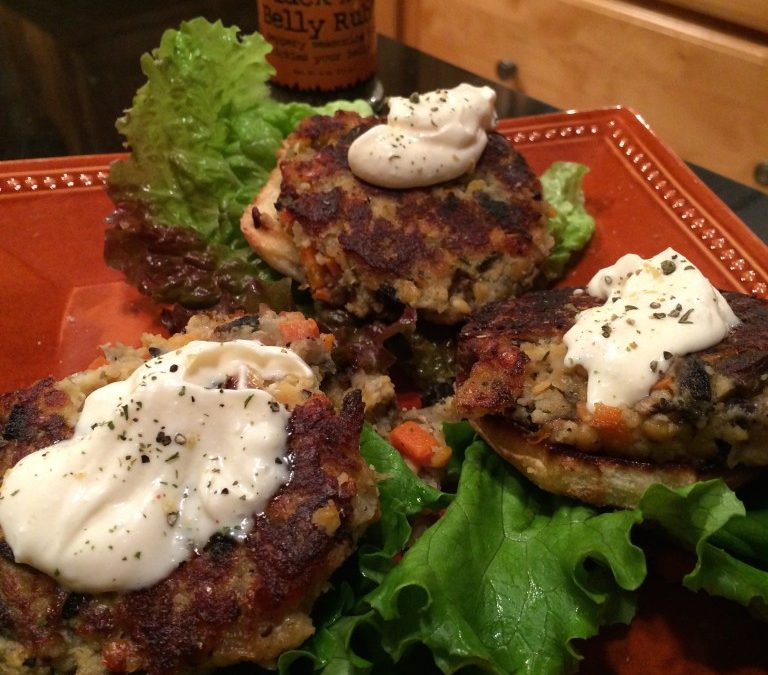 Black Dog Red Lentil Burgers