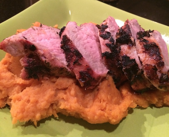 Perfect Pork Tenderloin w/Mashed Sweet Potatoes