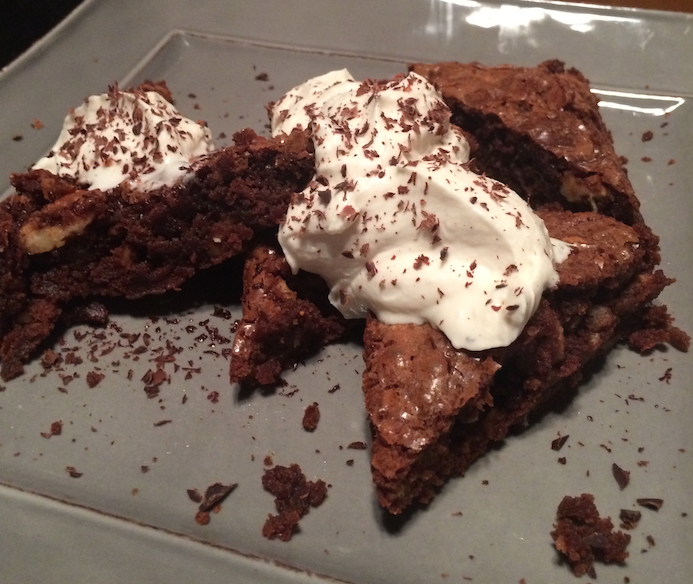 Hatch Chili Brownies with Grand Marnier Whipped Cream