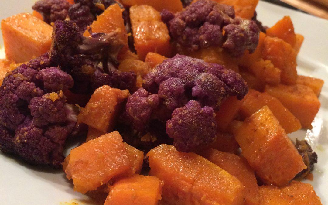 Roasted Butternut Squash and Cauliflower