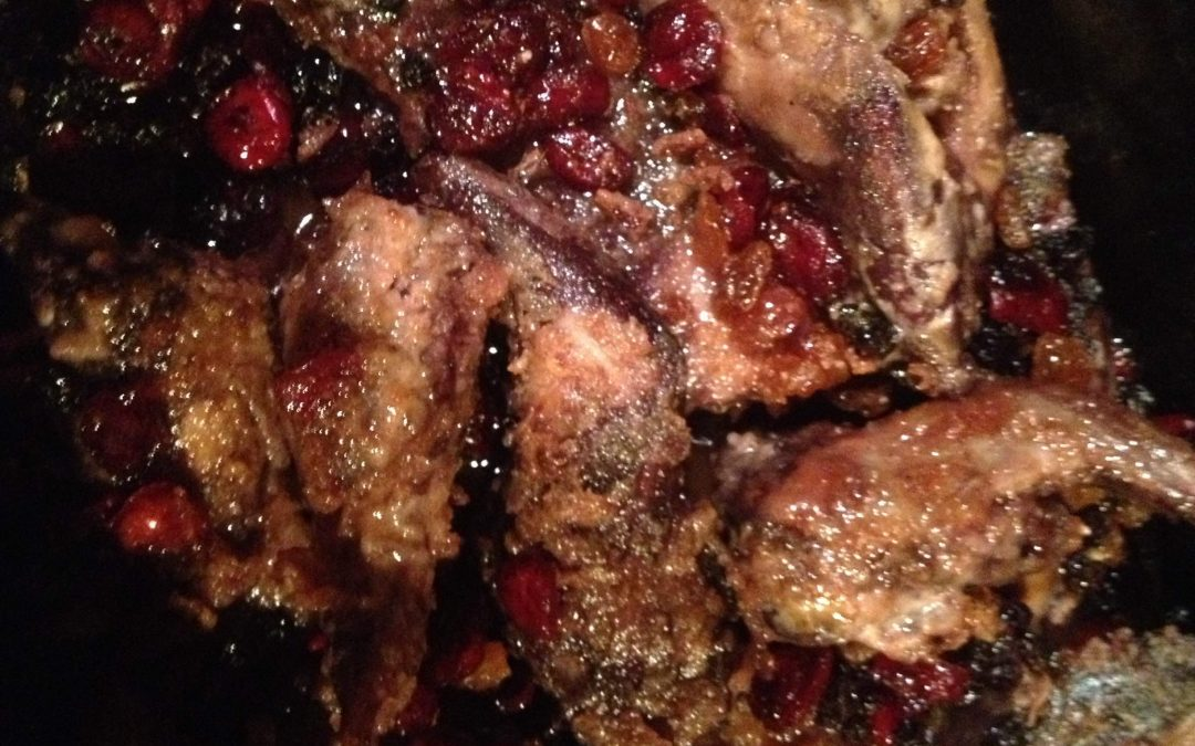 Slow Cooker Squirrel w/Spice and Dried Fruit – serves 6