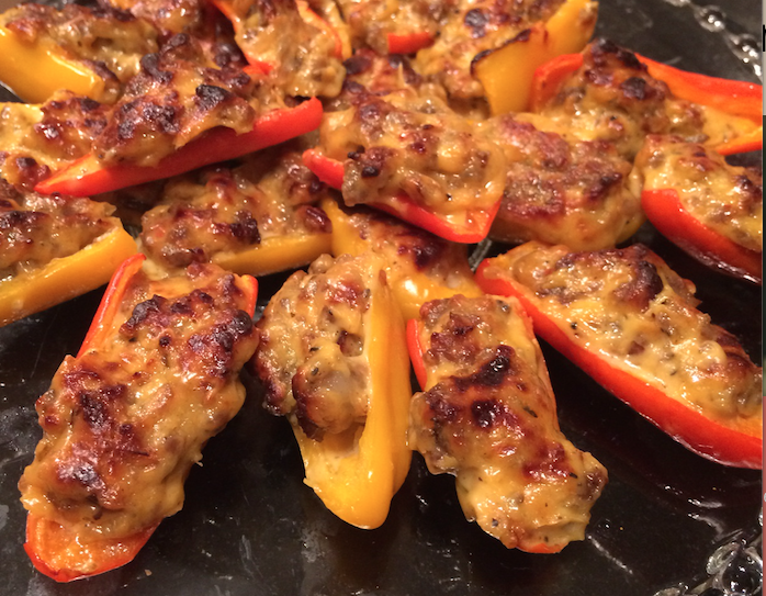 Savory and Awesome Stuffed Pepper Appetizer