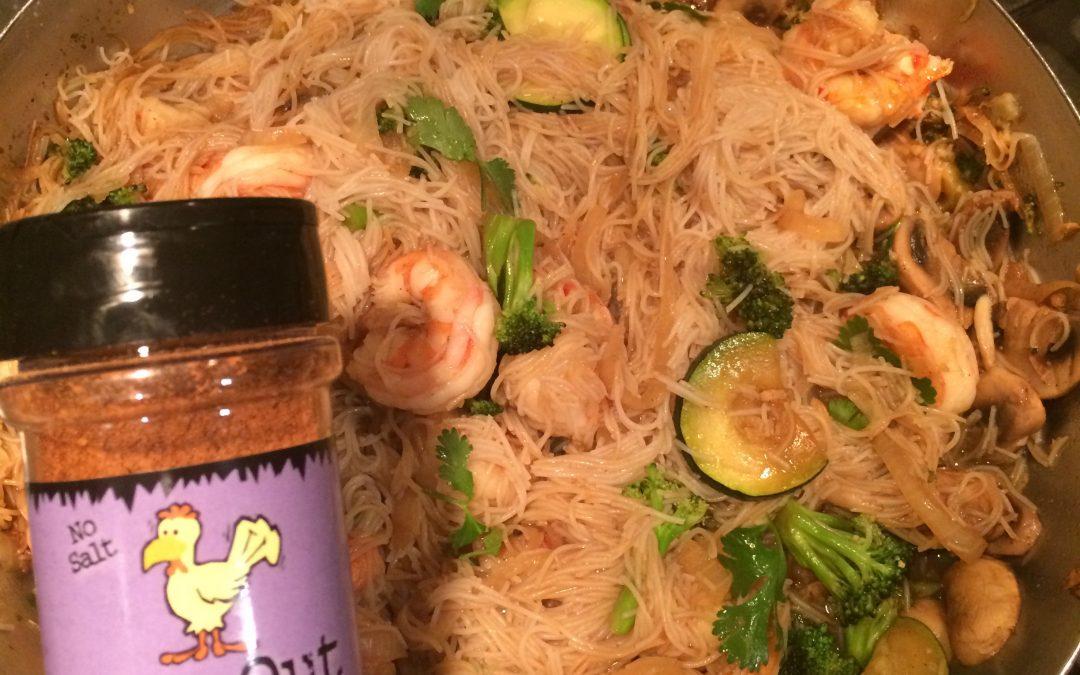 Ginger Spiced Shrimp with Noodles