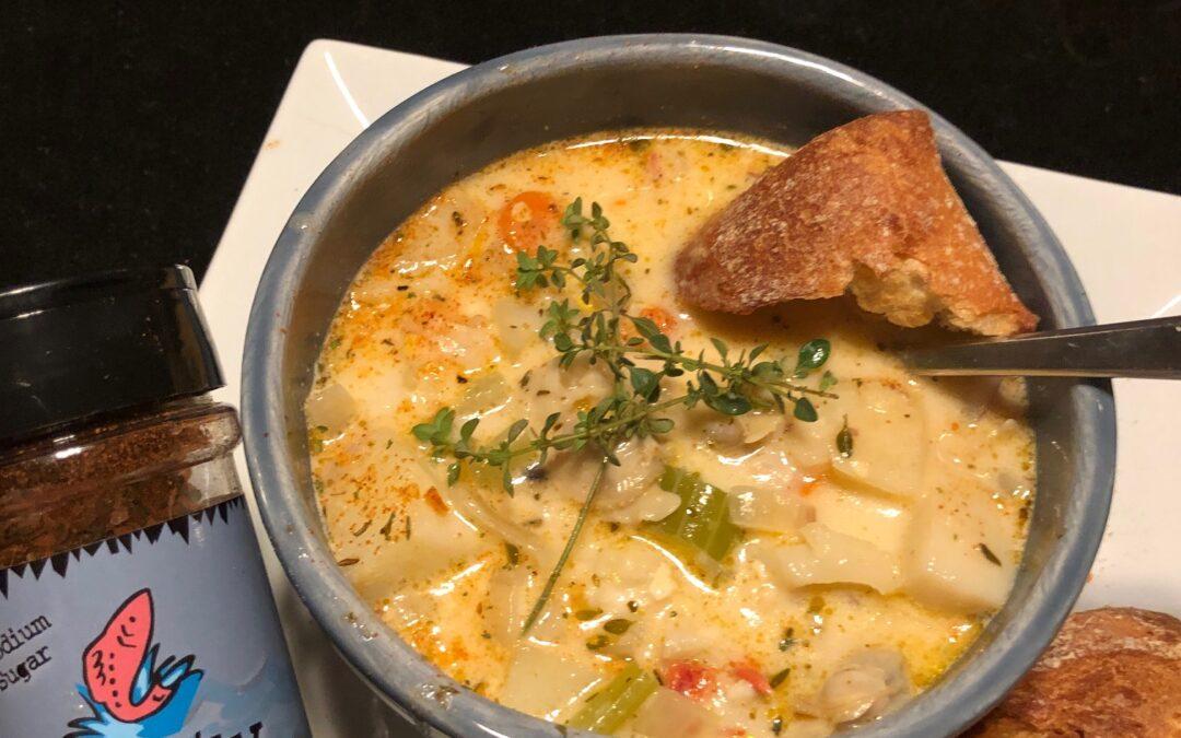 Savory Seafood Chowder – serves 6
