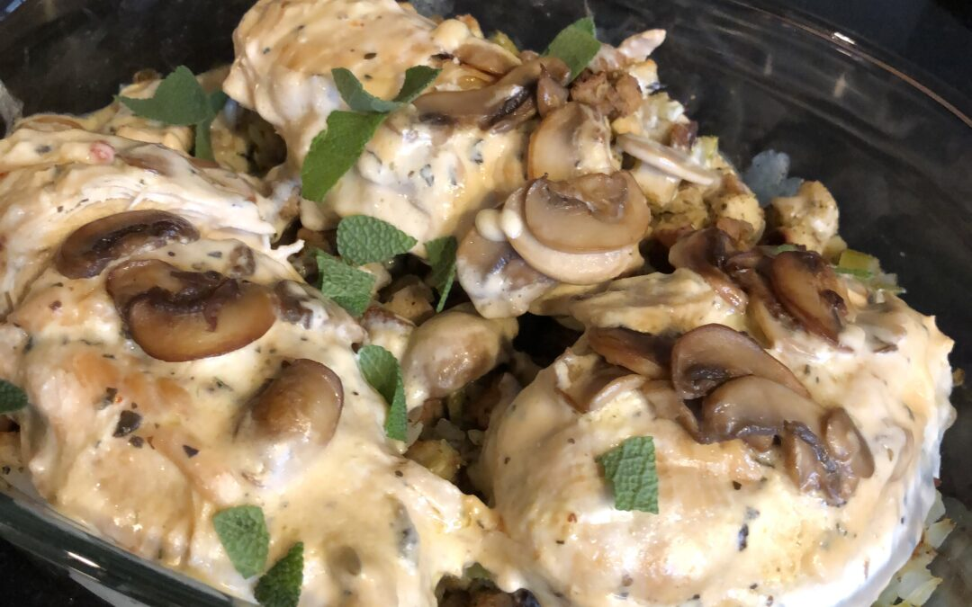 Stacy's Savory Chicken and Fresh Sage Stuffing – serves 4