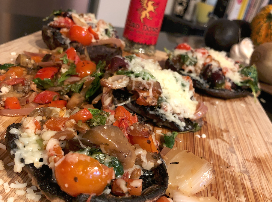 Stuffed Portobello Mushrooms – Greek Style